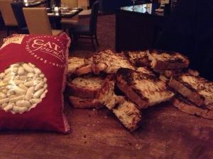 spanish cassoulet beans + bread