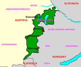 Burgenland map