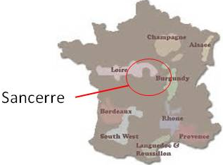 Sancerre map