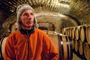 Vincent Dauvissat in his cellar in Chablis
