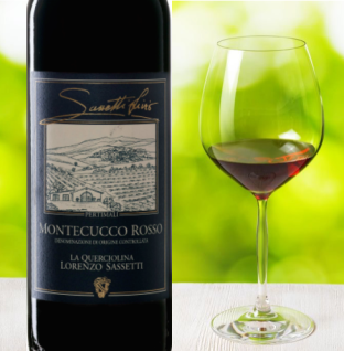 sassetti montecucco bottle and glass summer