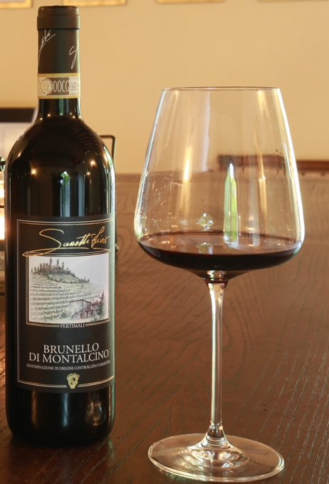 sassetti brunello and glass