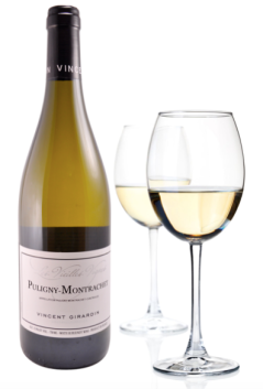 Puligny-Montrachet and glasses