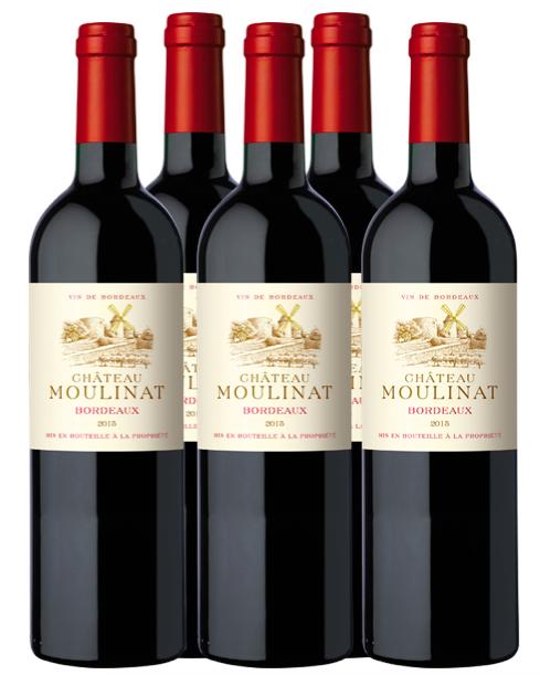 Ch Moulinat Bordeaux bottles