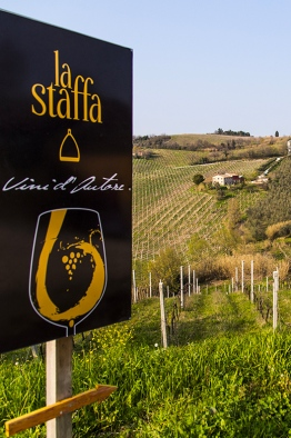 la staffa vineyard and sign