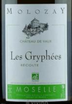 Ch de Vaux Moselle Blanc Les Gryphées label