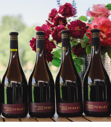 Turley wines four bottles