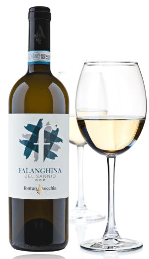 fontanavecchia falanghina and glass